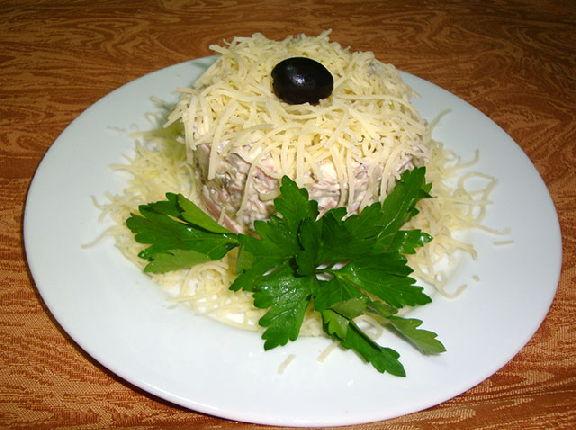 Салат каприз рецепт с с языком