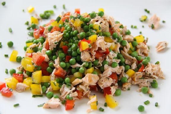 легкие рецепты салатов с зеленым горошком