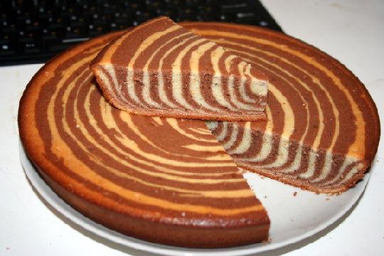 пирог зебра на маргарине