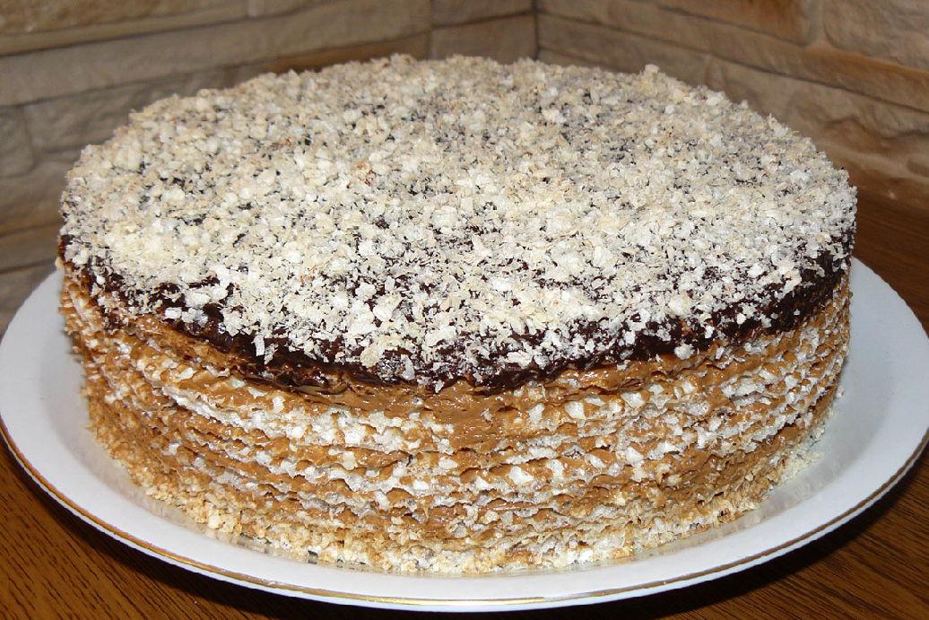 торт с вафель рецепт