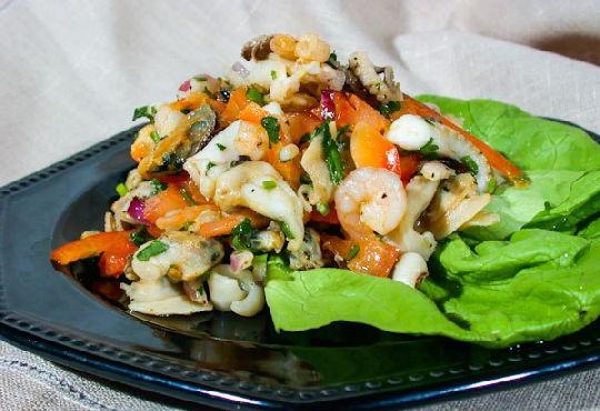 Фото рецепты салатов морской коктейль