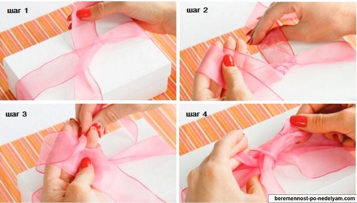 Завязать красивый бантик на подарок 144